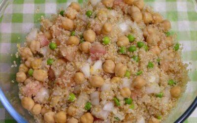 Ensalada de garbanzos y quinoa